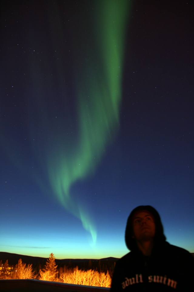 Aurora over Fairbanks Alaska